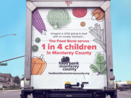 back of food bank truck