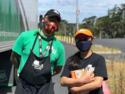 masked staff